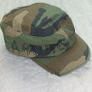 Billabong Camo Flat Cadet Cap Style Military OS